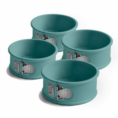 JAMIE OLIVER - Jamie Oliver Mini Springform Cake Tin Set Of 4 Atlantic Green