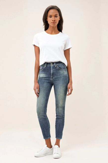 Salsa Jeans - Blue Elegant cropped premium wash jeans