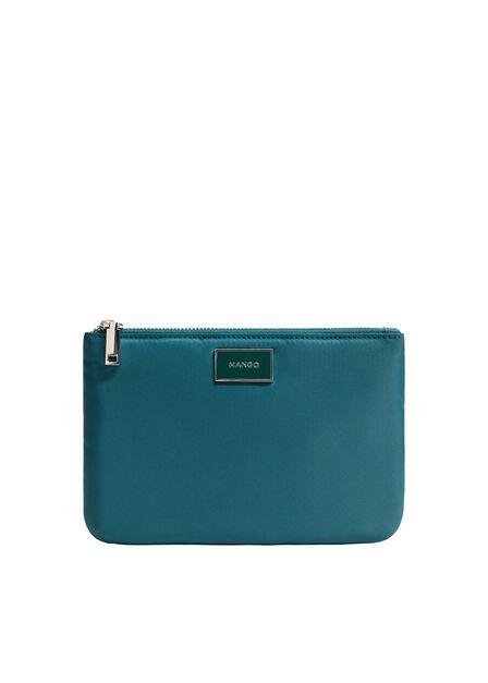 Mango - Dark Blue Logo Cosmetic Bag