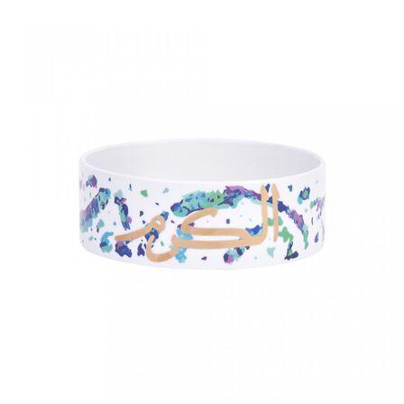 SILSAL DESIGN HOUSE - Silsal Small Porcelain Fairuz Cylinder Bowl With 22 Carat Gold