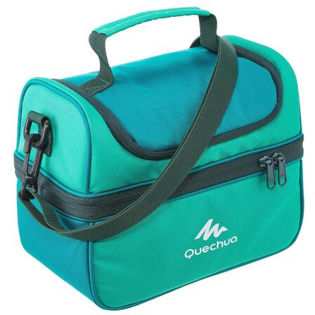 QUECHUA - Unique Size  Lunch Box isothermal box, Caribbean Green