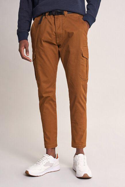 Salsa Jeans - Brown Karl loose slim trousers with belt
