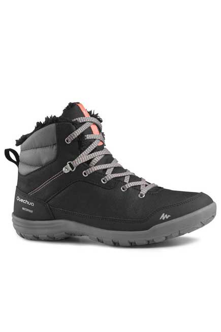 QUECHUA - SH100 Women's Warm Mid Hiking Snow Boots - Black, EU 37