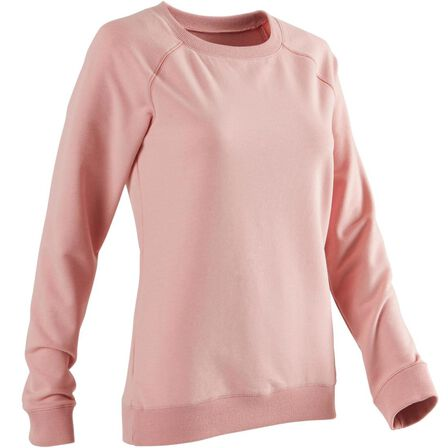 NYAMBA - Extra Small  Women's Training Sweatshirt 100 - Pale, Pink
