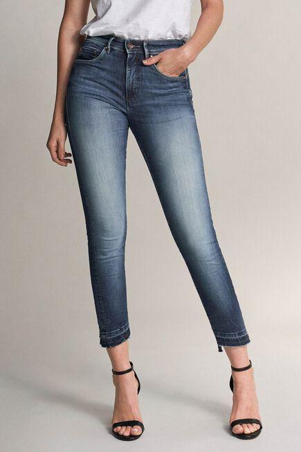 Salsa Jeans - Blue Secret glamour push in capri premium wash jeans