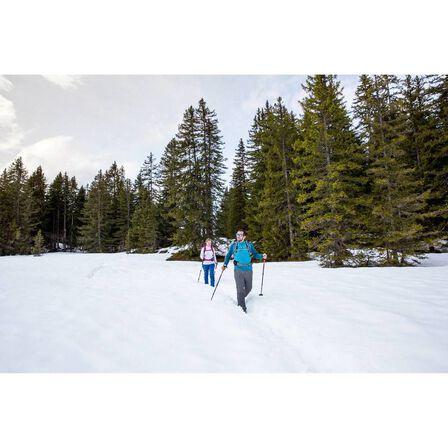 QUECHUA - Men's warm long-sleeve snow hiking t-shirt sh100 - black.