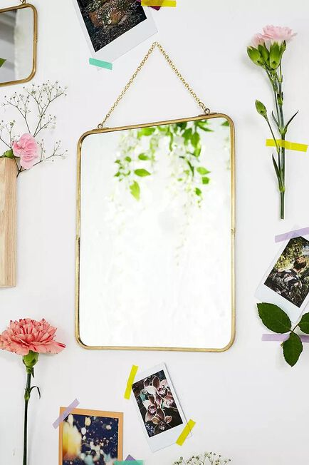 Urban Outfitters - GOLD Large Rectangle Mirror