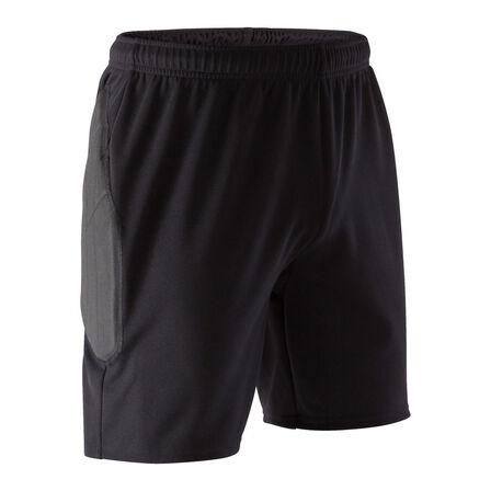 KIPSTA - W34 L34  Adult Goalkeeper Shorts F100 - Black, Default
