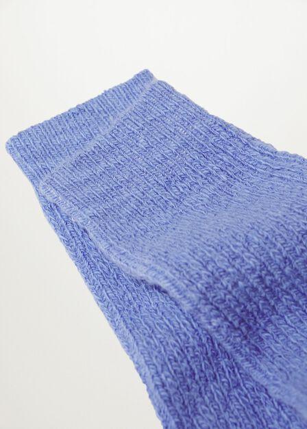 Mango - lt-pastel blue Ribbed cotton socks, Women