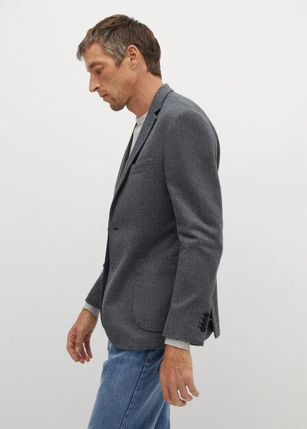 Mango - grey Slim fit cotton blazer