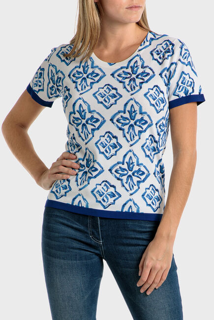 Punt Roma - Mosaic print sweater