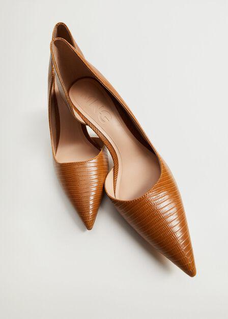 Mango - Medium Brown Asymmetric Stiletto Shoes