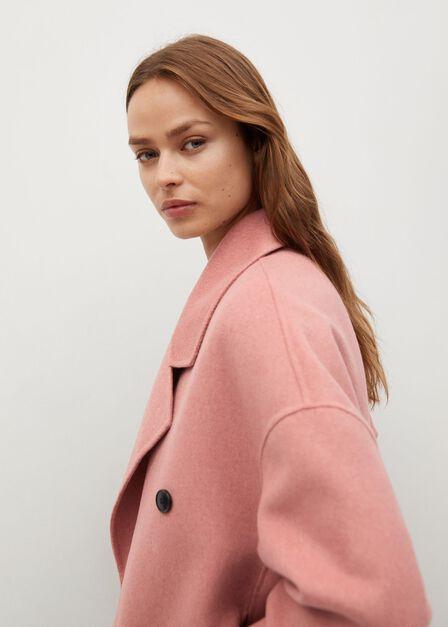 Mango - lt-pastel pink Handmade wool coat