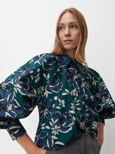 Reserved - Shirt with puffy sleeves - Multicolor