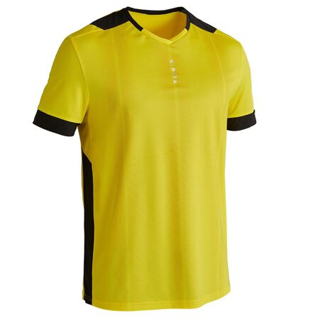 KIPSTA - 2XL  F500 Adult Football Shirt, Sunshine Yellow