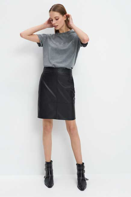 Mohito -  T-Shirt With An Application - Grey