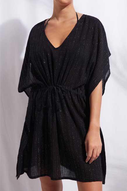 Calzedonia - Black Lama Kaftan, Women - One-Size
