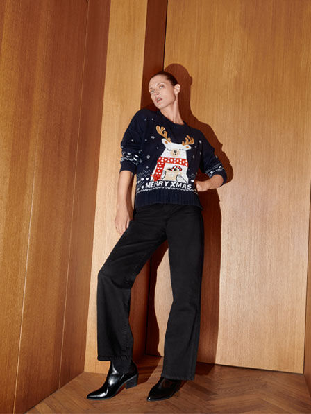 Reserved - Ladies` sweater - Navy