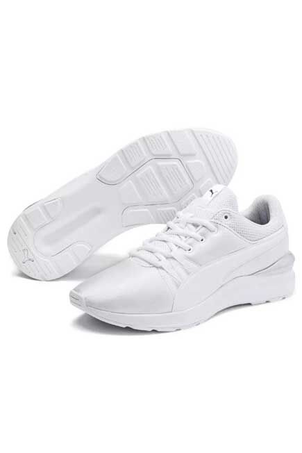 Puma - White Metallic Sneakers, Women