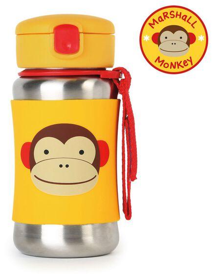 SKIP HOP - Skip Hop Zoo Stainless Steel Straw Kids Water Bottle Monkey 350ml