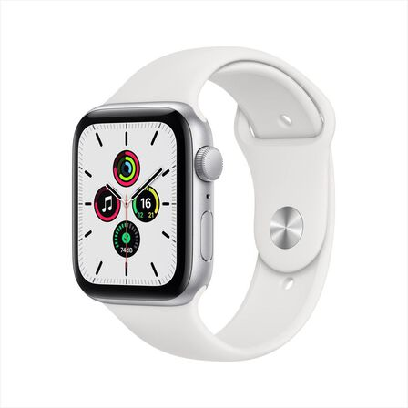 APPLE - Apple Watch SE GPS 40mm Silver Aluminium Case with White Sport Band
