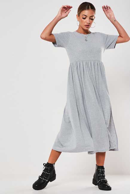 Missguided - BASIC JERSEY SMOCK DR