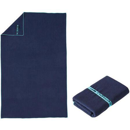 NABAIJI - L 80 X 130 Cm Microfibre Striped Towel - Navy Blue