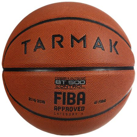 TARMAK - US 6  Size 6 FIBA Basketball BT500, Brown
