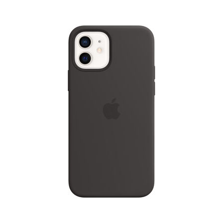 APPLE - Apple Silicone Case Black with MagSafe for iPhone 12/Pro