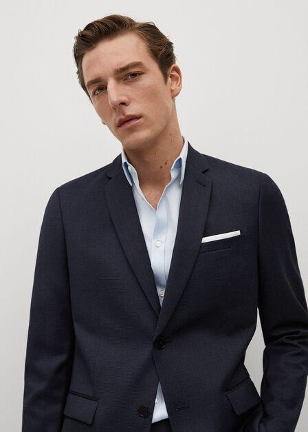 Mango - Pastel Blue Super Slim-Fit Tailored Stretch Cotton Shirt