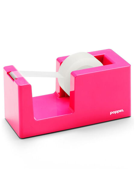 POPPIN INC - Poppin Inc Tape Dispenser & Tape Pink