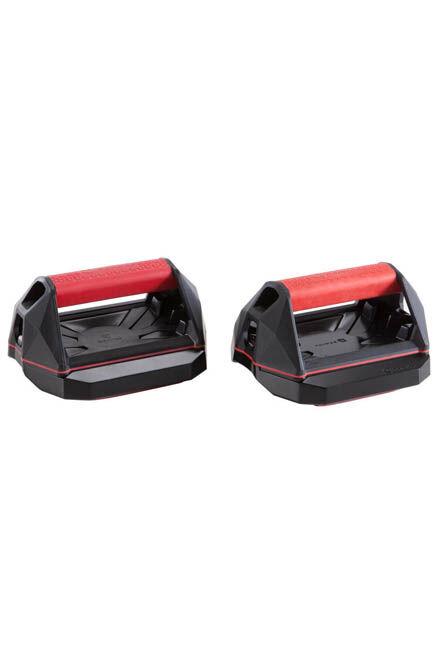 DOMYOS - Versatile cross training push-up wheel grips - red/black, Unique Size