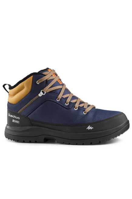 QUECHUA - SH100 Men's Warm Mid Hiking Snow Boots - Blue , EU 40