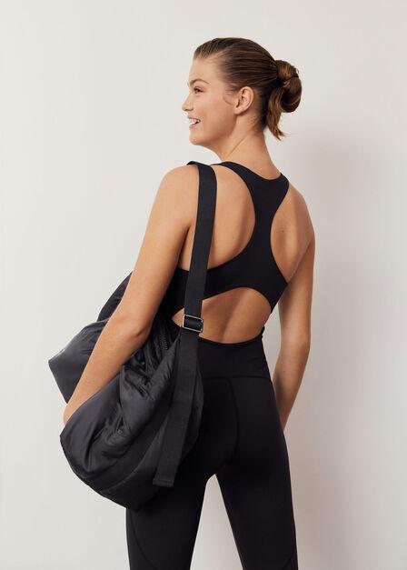 Mango - Black Quilted Bag