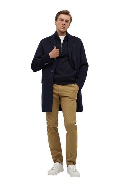 Mango - medium brown Slim fit serge chino trousers