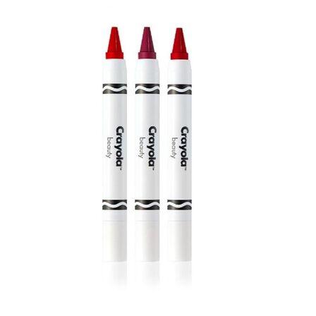 CRAYOLA - Crayola Beauty Crayon Trio Romantic Reds - Strawberry/Maroon/Red