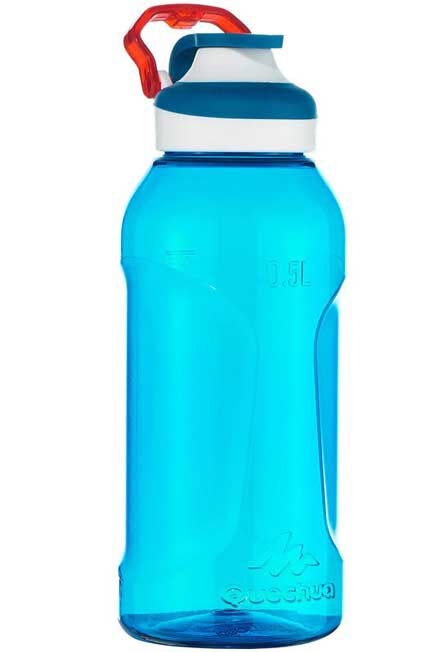 QUECHUA - Flask 500 Tritan water bottle | Quick-open - 0.5 l - Blue