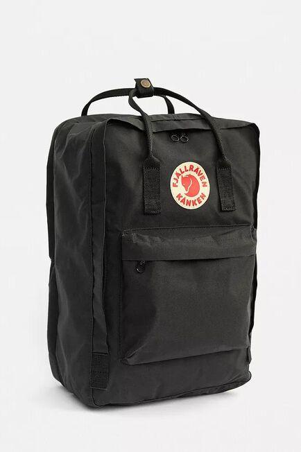 Urban Outfitters - Black Fjallraven Kanken Black 17 Laptop Backpack