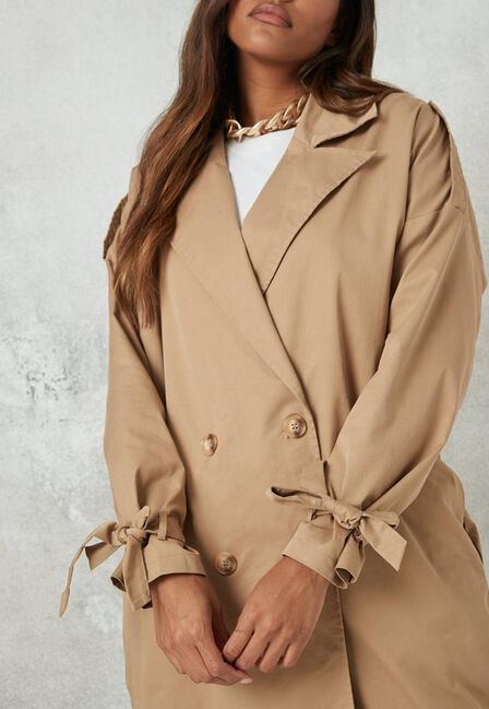 Missguided - Camel Oversized Trench Coat