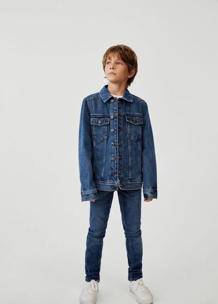 Mango - open blue Denim cotton jacket