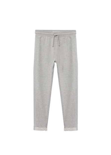 Mango - medium grey Organic cotton jogger trousers