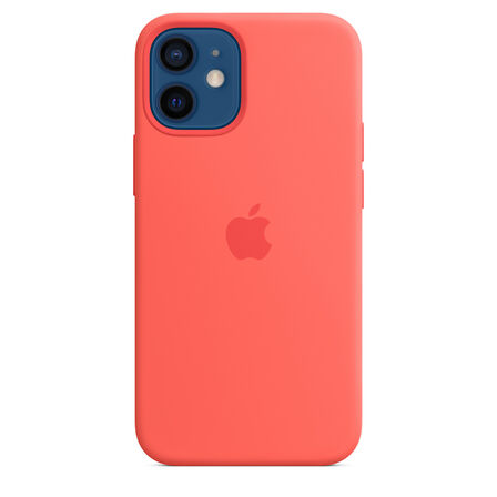 APPLE - Apple Silicone Case Pink Citrus with MagSafe for iPhone 12 Mini