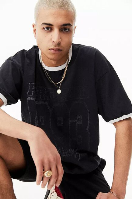 Urban Outfitters - Black UO Portland Ringer T-Shirt