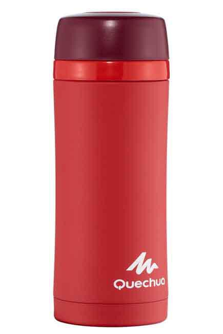 QUECHUA - Stainless isothermal hiking mug 0.35 litres red, Unique Size