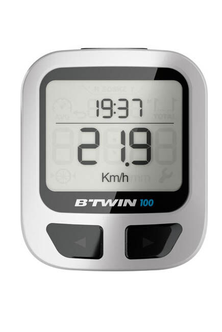 VAN RYSEL - 100 wired cyclometer - black, Unique Size