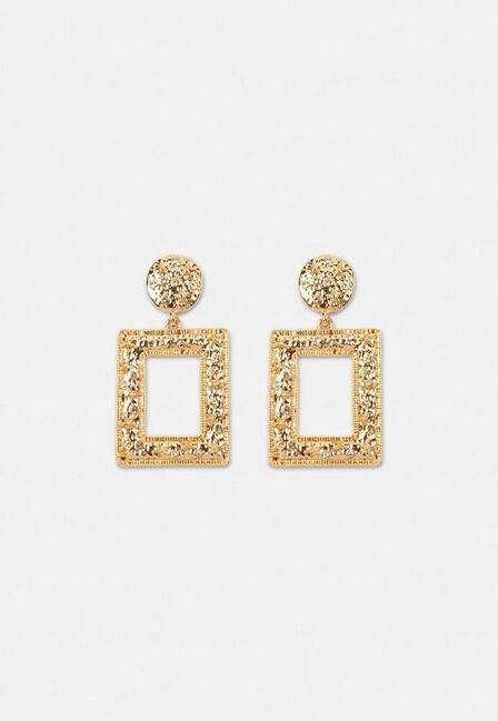 Missguided - Gold Gold Look Crystal Doorknocker Earrings