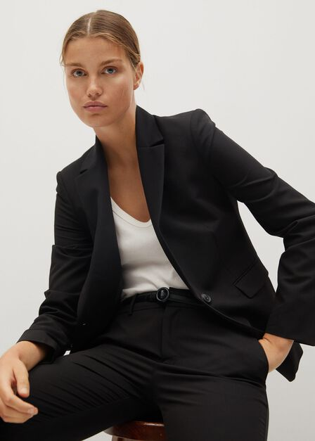 Mango - black Fitted essential suit jacket