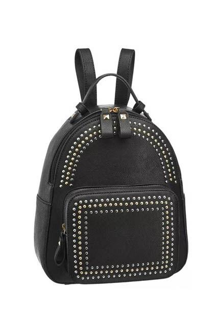 Graceland - Black Backpack With Studds, Women