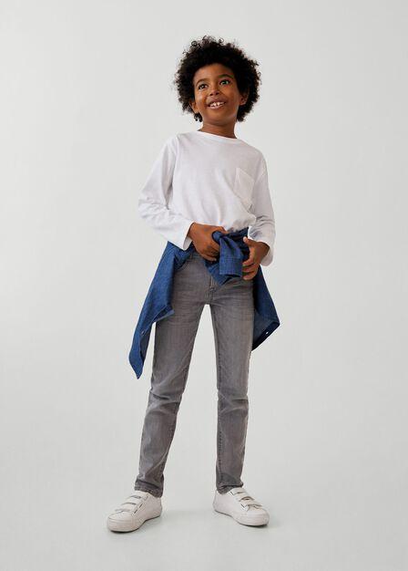 Mango - open grey Slim-fit jeans