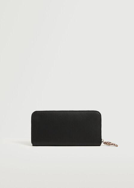 Mango - black Knot saffiano-effect wallet, Women